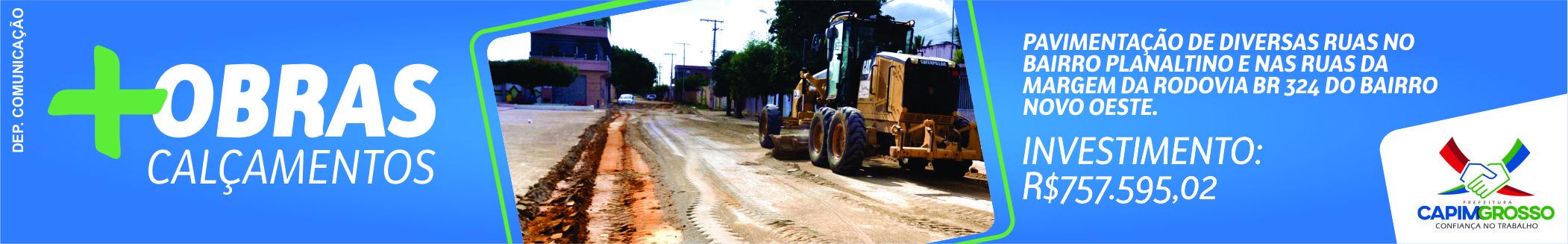 Prefeitura Municipal de Capim Grosso - Obras